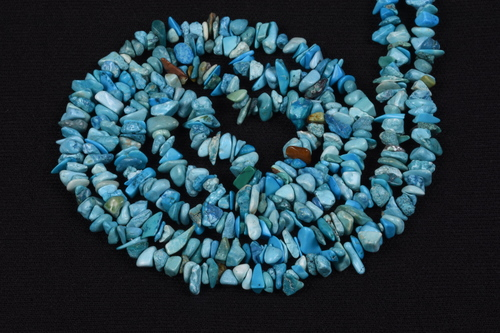 Turquoise Uncut Chip Beads