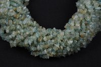 Aquamarine Uncut Chips Beads