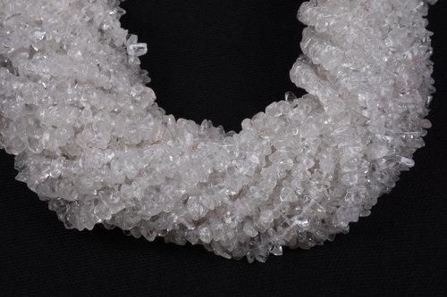 Crystal Quartz Uncut Chips Beads