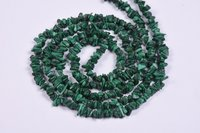 Malachite Uncut Chips Beads