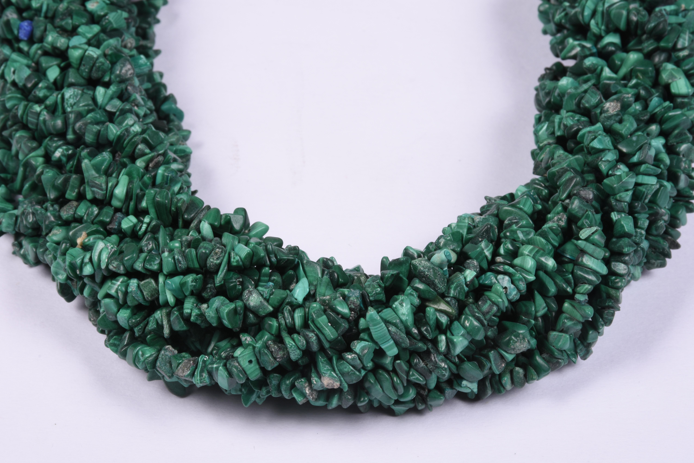 Malachite Uncut Chips Beads