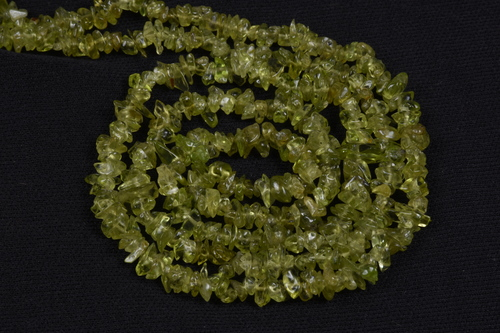 Peridot Uncut Chips Beads