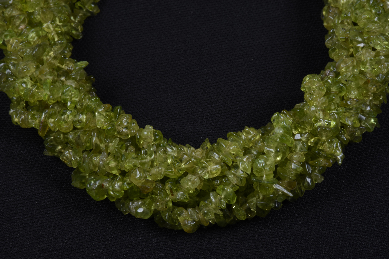 Peridot Uncut Chips Beads