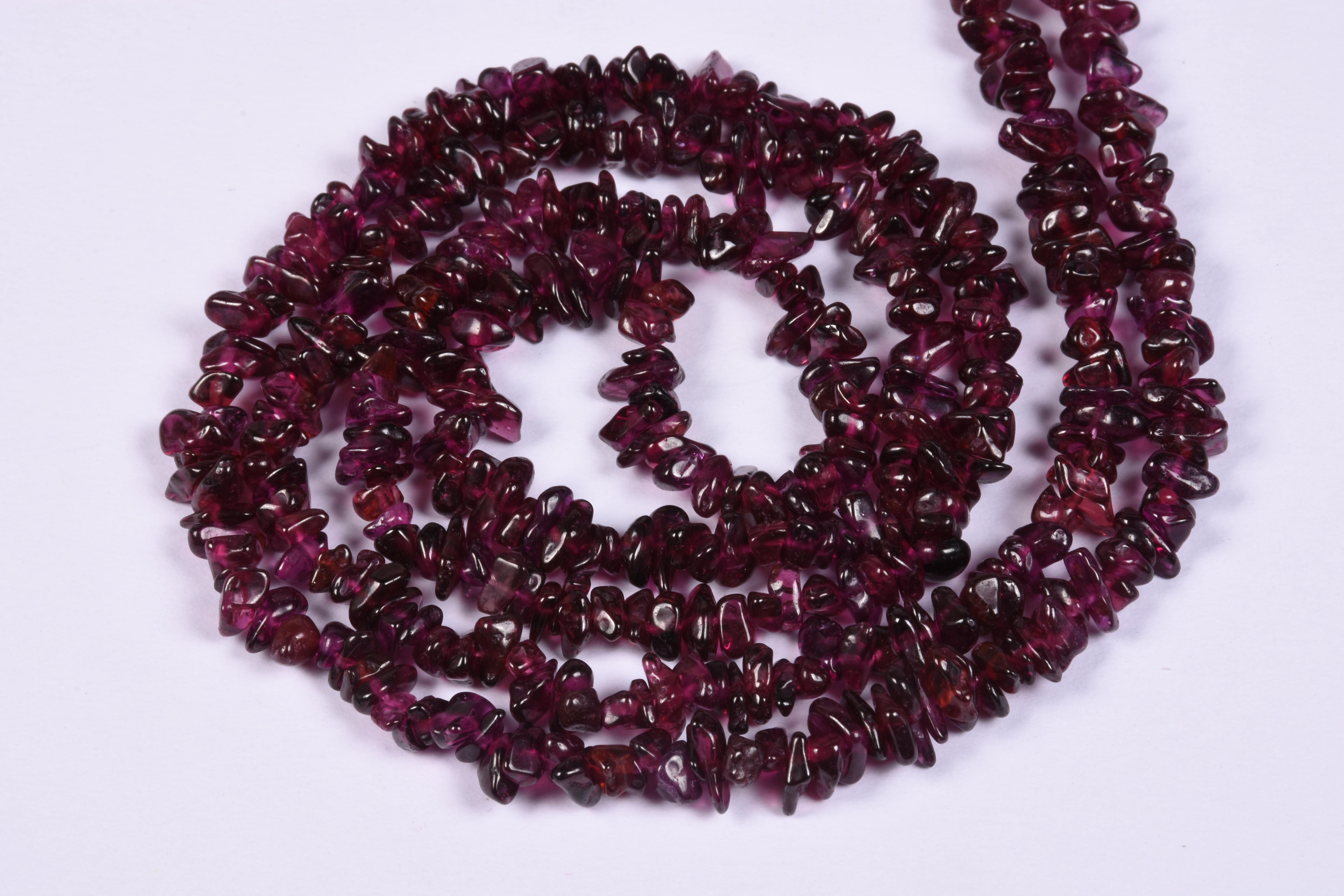 Garnet Uncut Chips Raw Beads