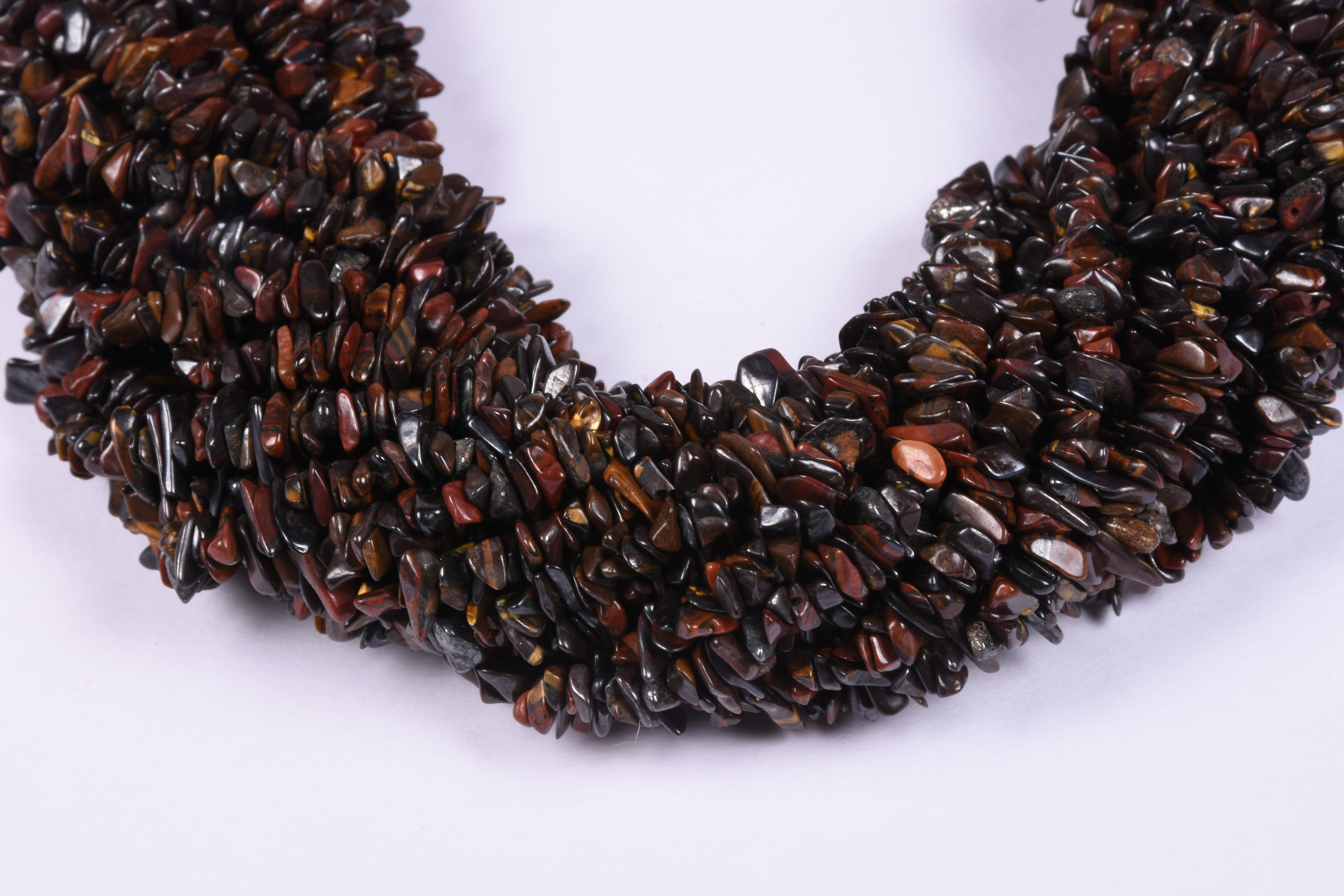 Red Tiger Eye Uncut Chips Beads
