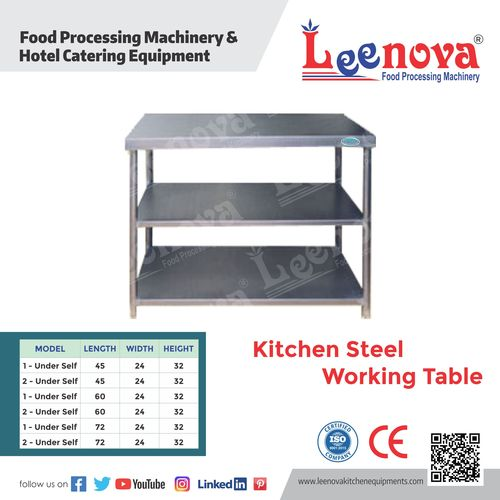 Kitchen Steel Working Table