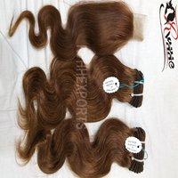 Double Drawn Weft 9A Virgin Human Hair Extension Cheap