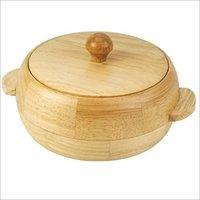 Wooden Round Casserole