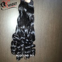 Raw Human Hair Spring Curly Funmi Hair Weaving Natural Black Hair