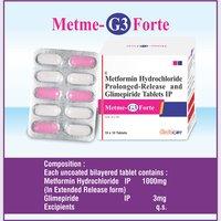 Metformin Hydrochlorid 1000mg + Glimepiride 3mg