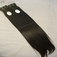 Indian Virgin Hair Silky Straight Single Drawn Human Hair Extensions