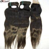 Indian Virgin Hair Silky Straight Single Drawn Human Hair Extensions