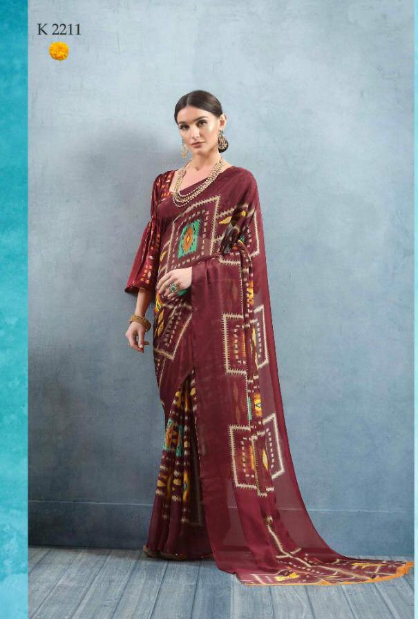 Designer Casual wear saree