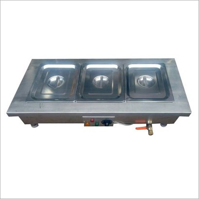 Three Container Bain Marie Counter