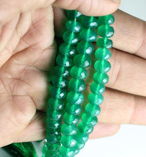 Green Onyx Roundel Beads