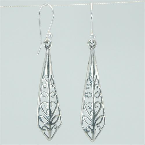 Dangle Silver Jali 925 Sterling Silver Earrings