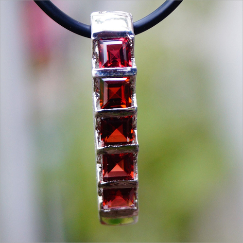 Garnet Natural 925 Sterling Silver Pendant