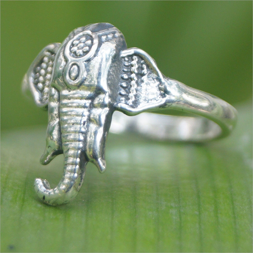 Ganesha Head 925 Sterling Silver Ring