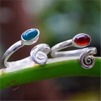 Oval Carnelian and Green Onyx Gemstone 925 Silver Toe Ring