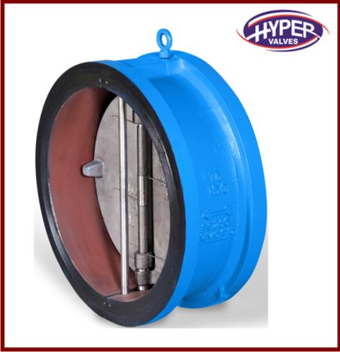 Lug type dual plate check valve