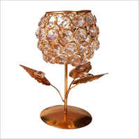 Decorative Copper Crystal Candle Stand