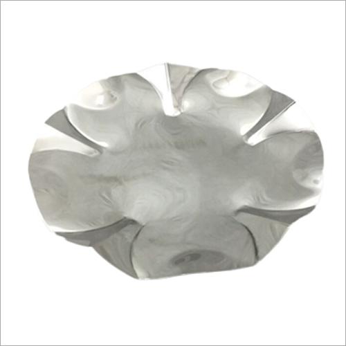 Decorative Aluminium Ruffled Bowl