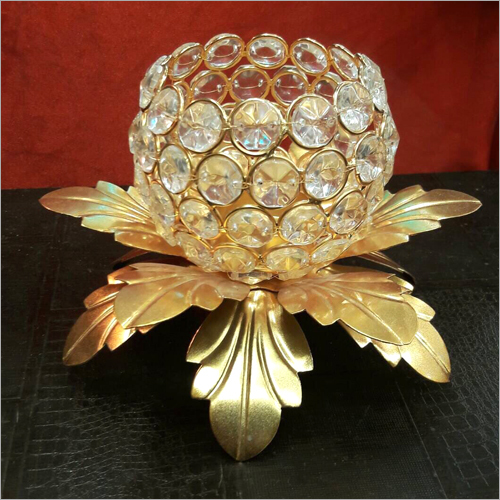 Designer Copper Crystal Candle Stand