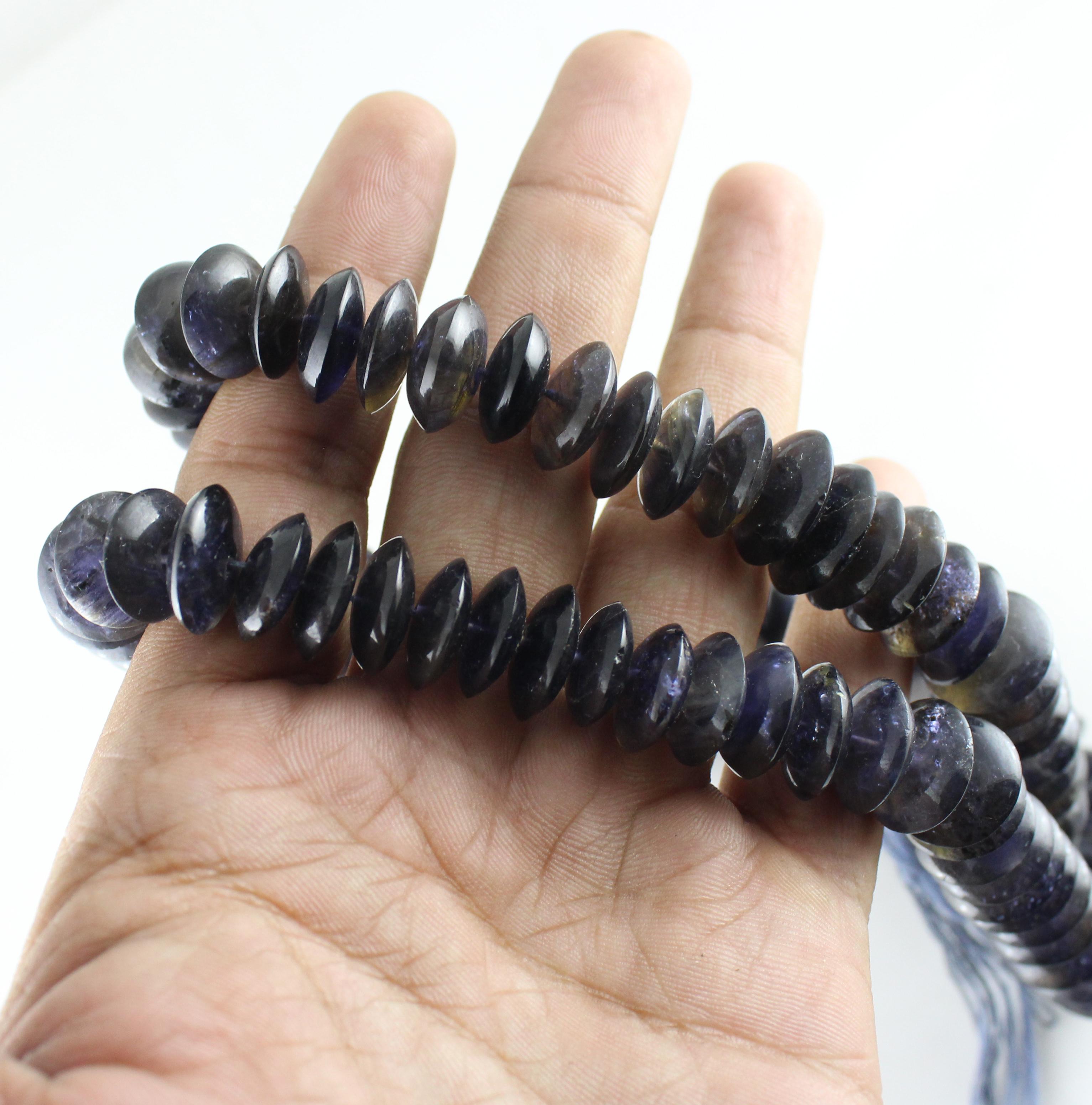 Iolite German Cut Beads
