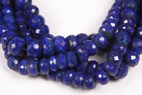 Natural Lapis Lazuli Faceted Beads