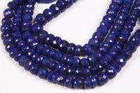 Natural Lapis Lazuli Faceted Beads