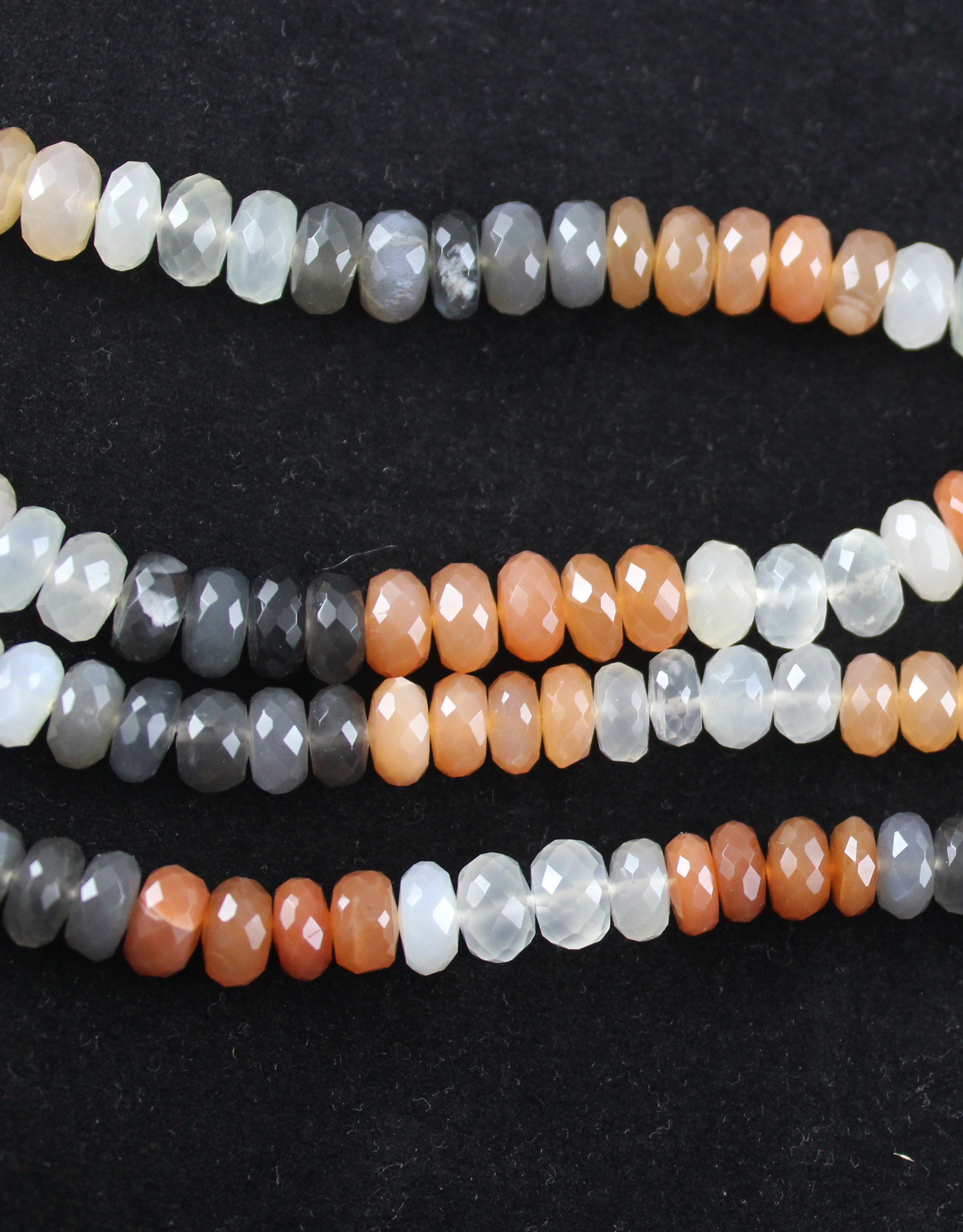 Multi Moonstone Roundel Beads