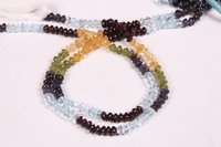 Multi Gemstone Natural Button Beads