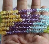 Multi Gemstone Button Beads