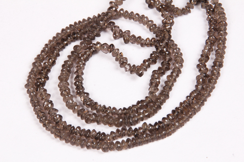 Smoky Quartz Button Beads