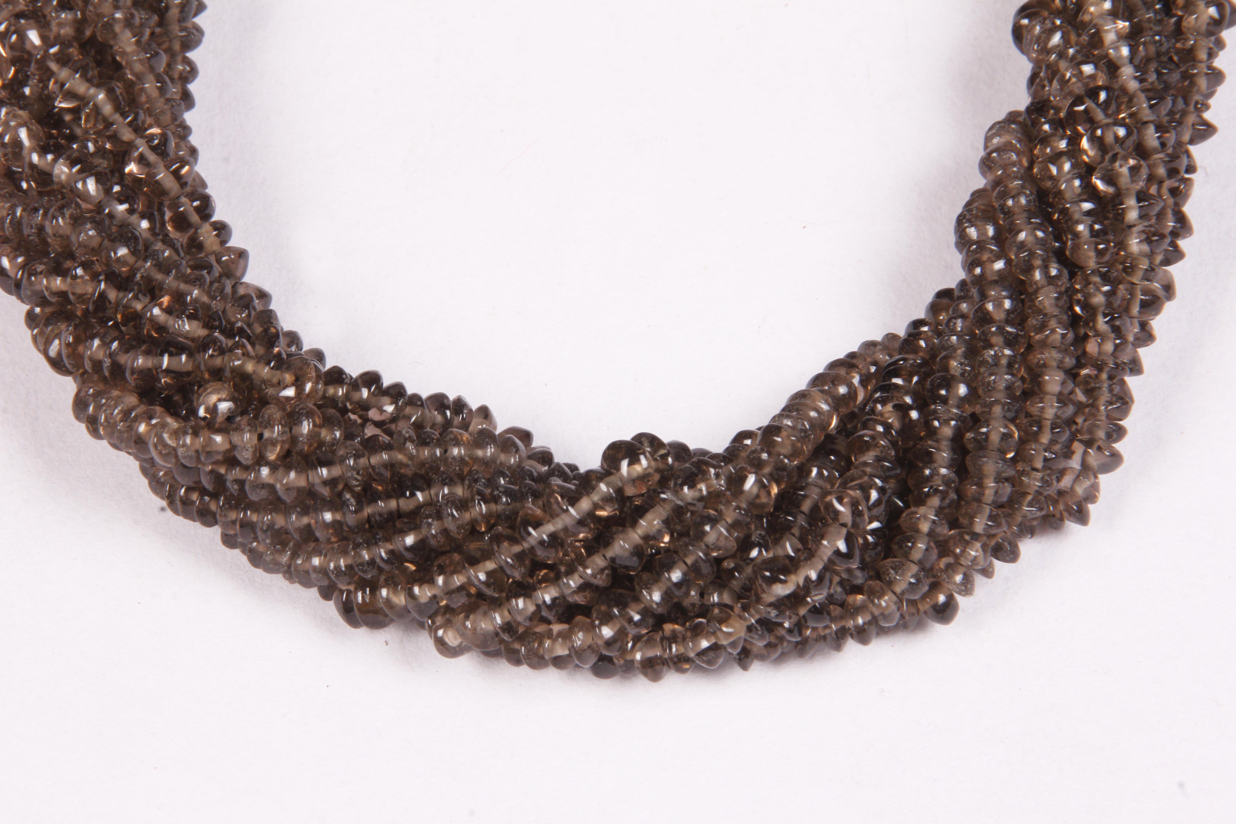Smoky Quartz Button Beads