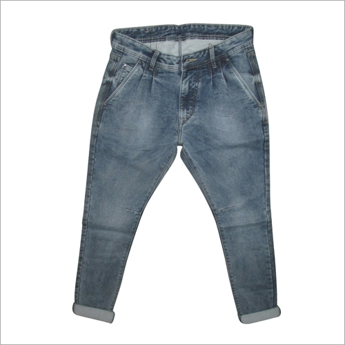 Mens Washed Denim Jeans
