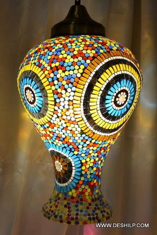 Multi Mosaic Handmade Glass Wall Hanging