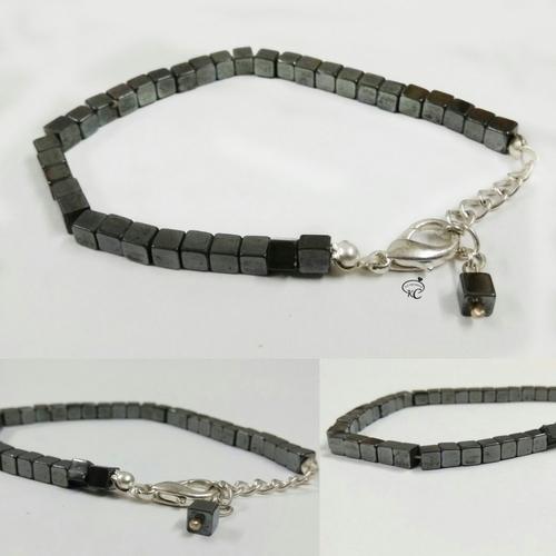 Hematite Box Bracelet