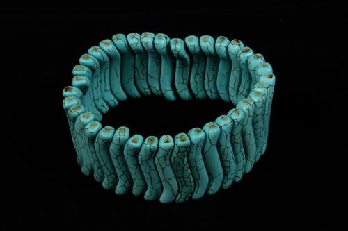 Turquoise Rubber Bracelet