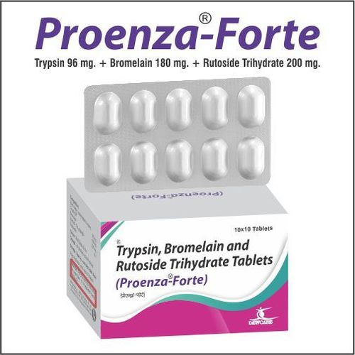 Trypsin 96 mg.+Bromelain 180 mg.+Rutoside Trihydrate 200 mg.