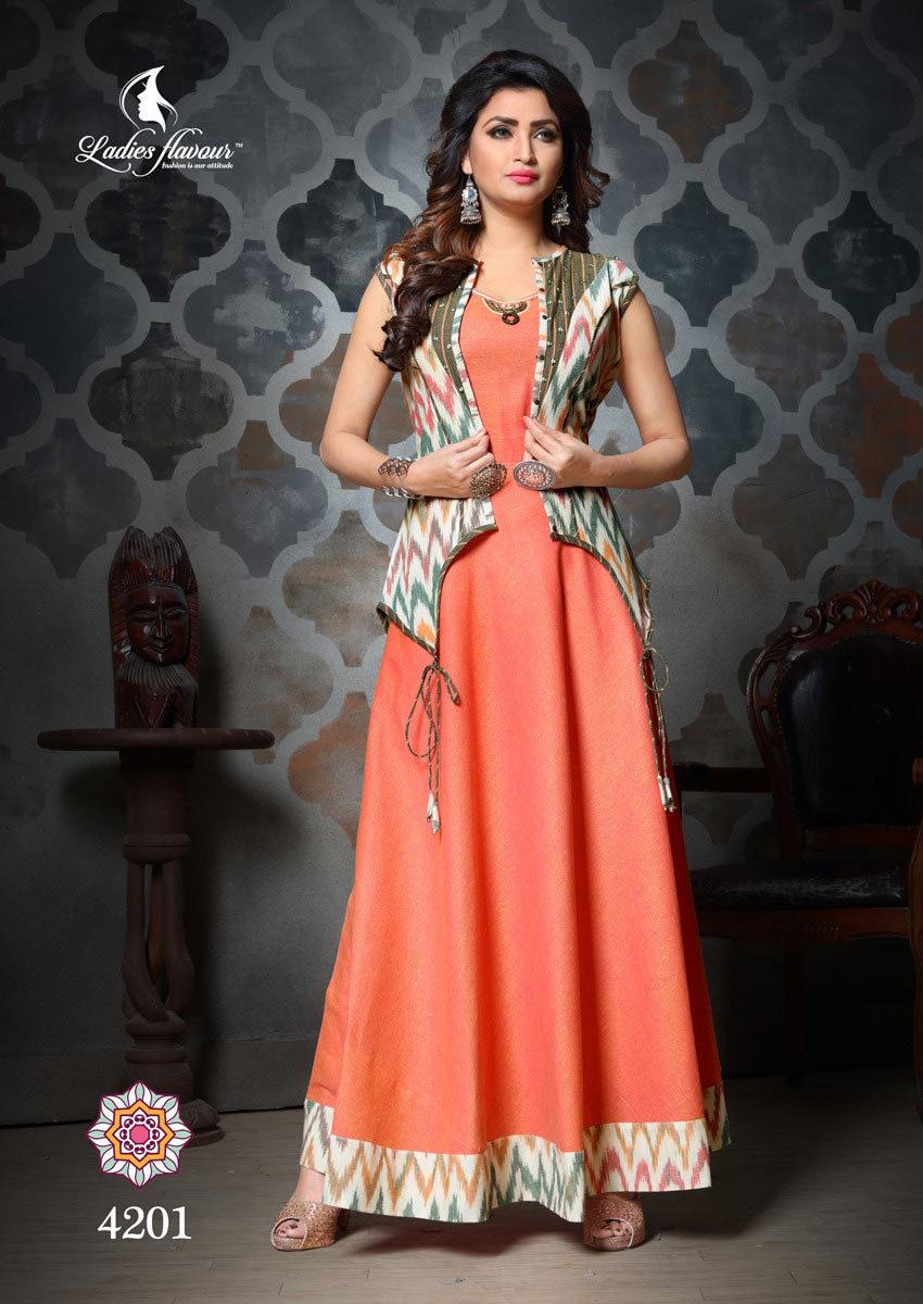 Gamthi Ladies Flavour South Cotton Kantha Work Kurtis