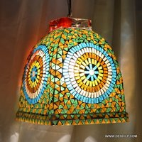 Antique Shape Glass Decor Hanging