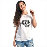 Artistic Lips Yedaz Women's Printed Trendy T-Shirt