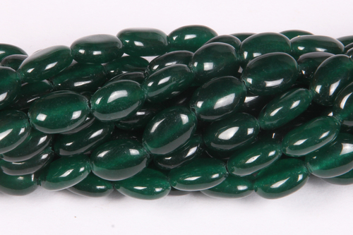 Green Jade Oval Beads