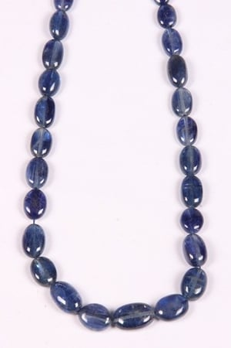 Kyanite Oval Beads