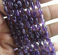 Amethyst Plain Oval Beads