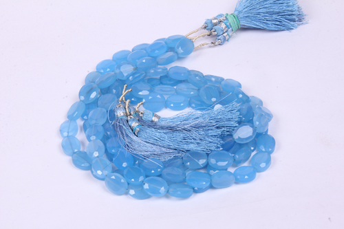 Chalcedony Oval Beads