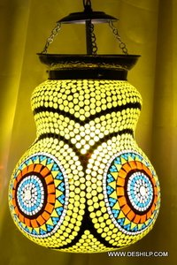 Yellow Mosaic Wall Hanging For Home Decor