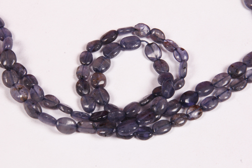 Iolite Oval Beads