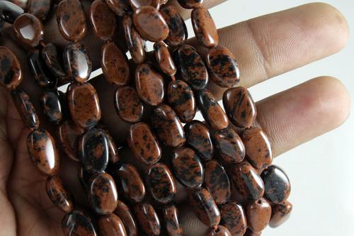 Mahogany Obsidian Oval Beads